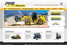 PME Máquinas: Website criado pela ALDABRA
