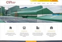 CSR Energia Solar: Website criado pela ALDABRA