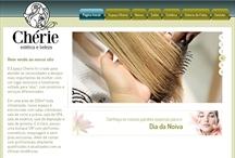 Cherie Estética: Website criado pela ALDABRA