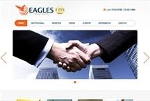 Eagles Eventos: Website criado pela ALDABRA