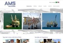 AMS Solutions: Website criado pela ALDABRA