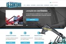 ES Conteiner: Website criado pela ALDABRA