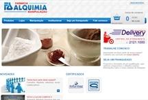 Farmácia Alquimia: Website criado pela ALDABRA