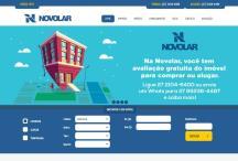Novolar Imóveis: Website criado pela ALDABRA