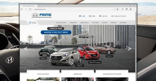 Criação de sites - Prime Hyundai