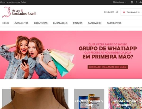 e-commerce - Artes e Bordados Brasil