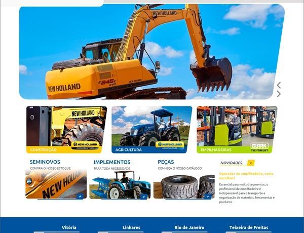 Criação de sites - PME Máquinas e Equipamentos