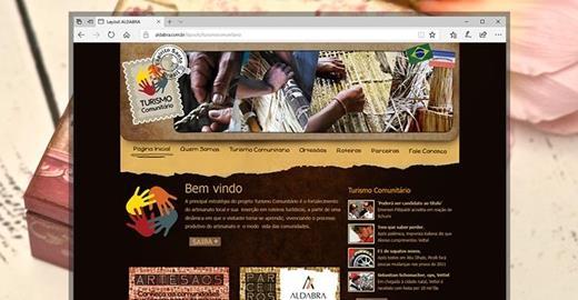 Criação de sites - Turismo Comunitário
