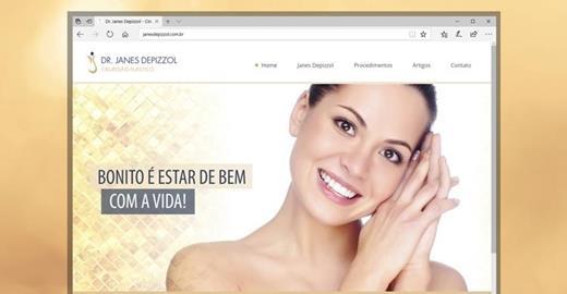 Criação de sites - Janes Depizzol - Cirurgião Plástico
