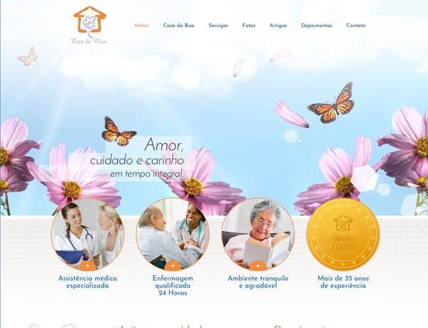 Criação de sites - Casa da Bisa