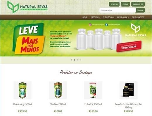 e-commerce - Natural Ervas Ecommerce