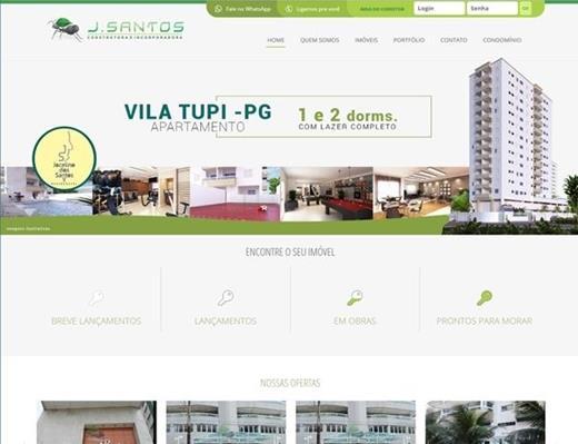 Criação de sites - JSantos Construtora