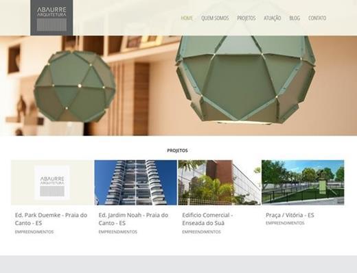 Criação de sites - Abaurre Arquitetura