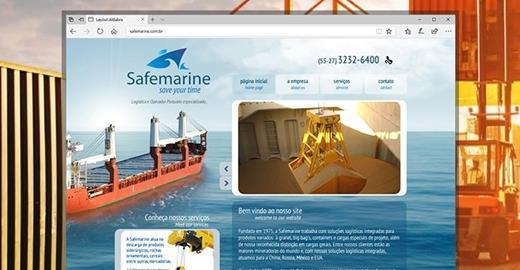Criação de sites - Safemarine