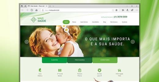 Criação de sites - Mais Saúde