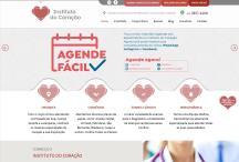 Instituto do Coração: Website criado pela ALDABRA