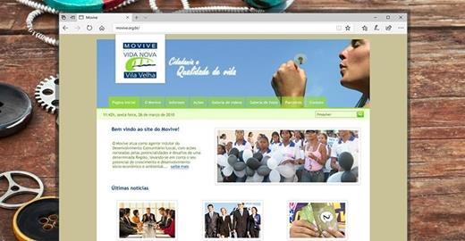 Criação de sites - Movive - Movimento Vida Nova Vila Velha
