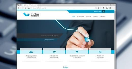 Criação de sites - Líder Contabilidade
