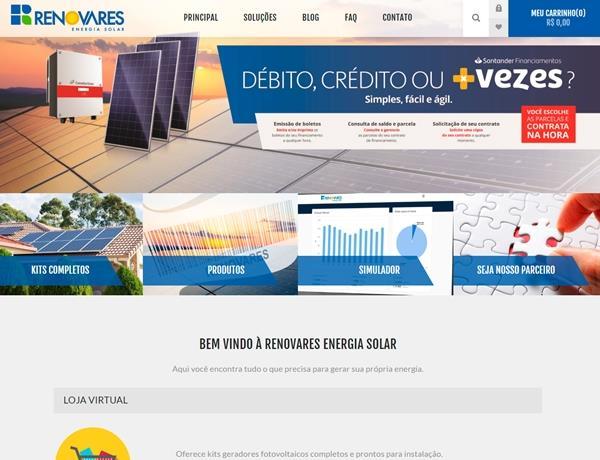 e-commerce - Renovares Energia Solar